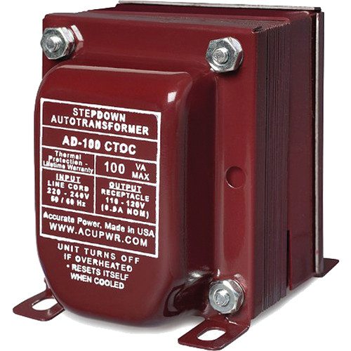 ACUPWR AD100-F 100W Step-Down Voltage Transformer with Type-F IEC Plug