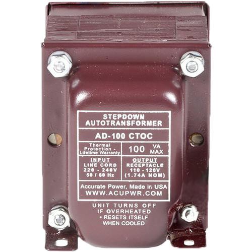 ACUPWR AD-200 Type-J 200W Step-Down Voltage Transformer with Type-J IEC Plug