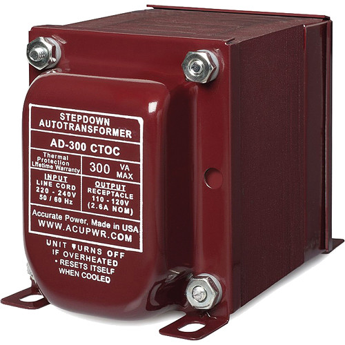 ACUPWR AD-300 CTOC Step Down Transformer (300W)
