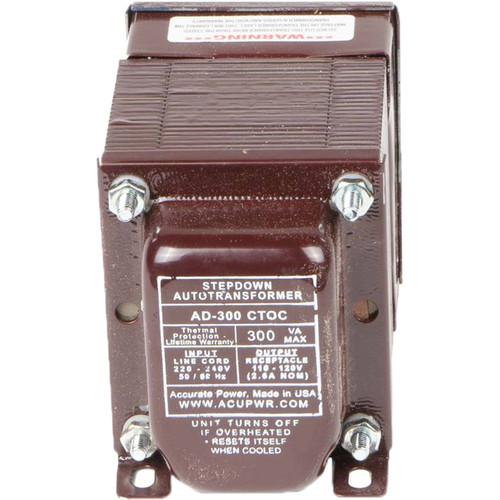 ACUPWR AD-300IEC Type-H 300W Step-Down Voltage Transformer with Type-H IEC Plug