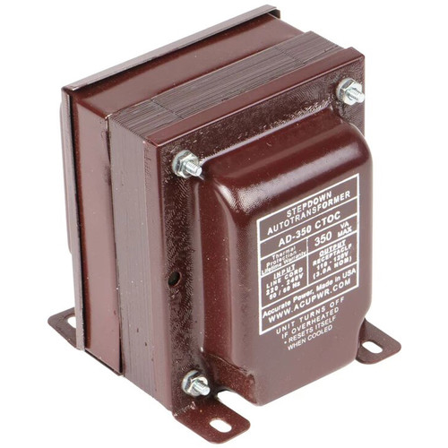 ACUPWR AD-350IEC Type-D 350W Step-Down Voltage Transformer with Type-D IEC Plug