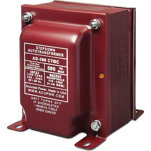 ACUPWR AD-500 CTOC Step Down Transformer (500W)