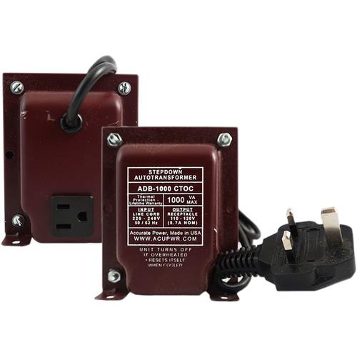 ACUPWR 1000W Step Down Transformer (Type G Plug)