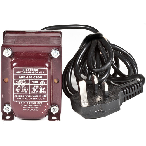 ACUPWR 100W Step Down Transformer (Type G Plug)