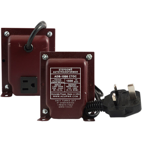 ACUPWR 1500W Step Down Transformer (Type G Plug)