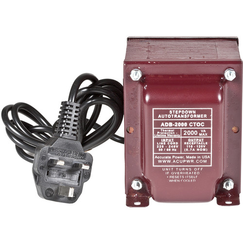 ACUPWR 2000W Step Down Transformer (Type G Plug)