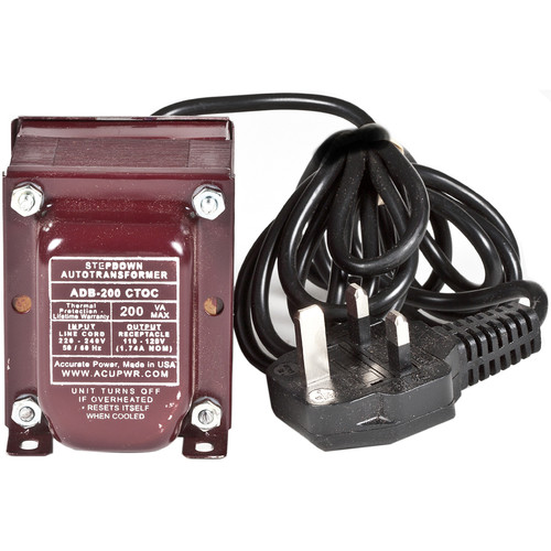 ACUPWR 200W Step Down Transformer (Type G Plug)