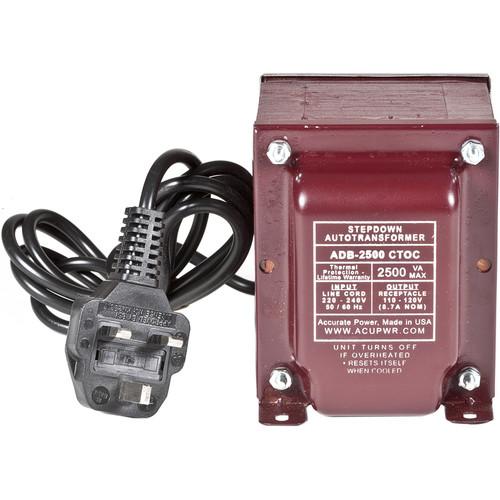 ACUPWR 2500W Step Down Transformer (Type G Plug)