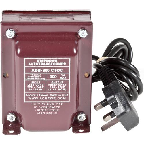 ACUPWR 300W Step Down Transformer (Type G Plug)