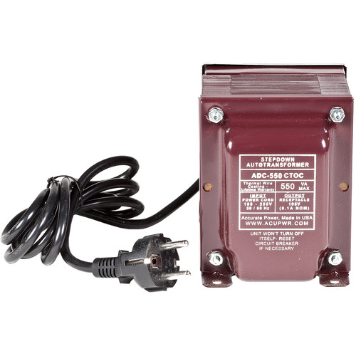 ACUPWR 550W Step-Down Transformer for 220-240V Cooling Appliances