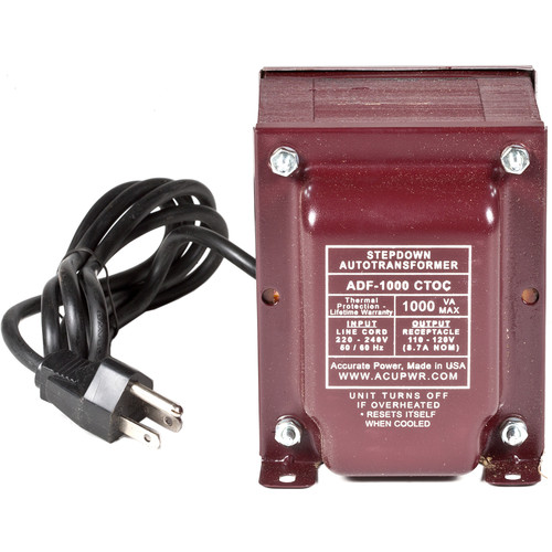 ACUPWR 1000W Step-Down Transformer (Type B Plug)