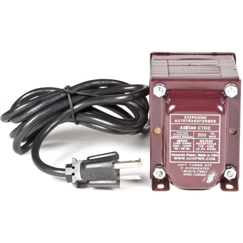 ACUPWR 300W Step Down Transformer (Type I Plug)