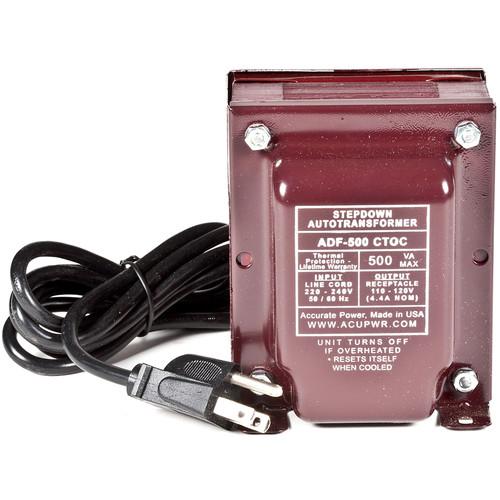 ACUPWR 500W Step-Down Transformer (Type B Plug)