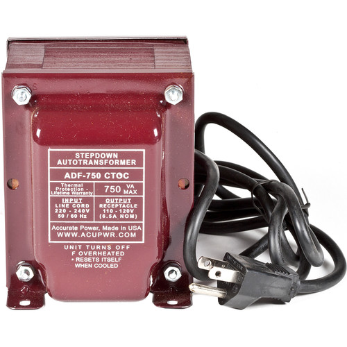 ACUPWR 750W Step Down Transformer (Type I Plug)