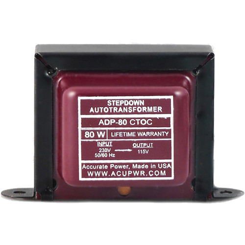 ACUPWR ADP-80 CTOC Step Down Transformer (80W)