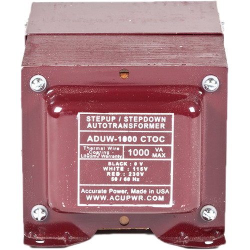 ACUPWR 1000W Step-Up/Step-Down Knock-Out Box Voltage Transformer for 110-120 or 220-240V