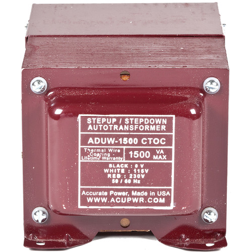 ACUPWR 1500W Step-Up/Step-Down Knock-Out Box Voltage Transformer for 110-120 or 220-240V