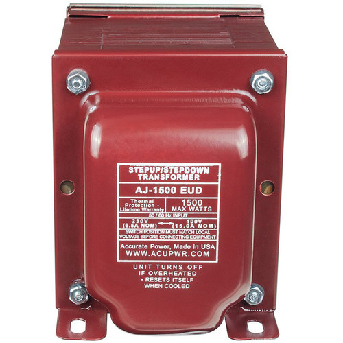 ACUPWR AJ-1500EUD 1500 Tru-Watts Step Up/Step Down Voltage Transformer