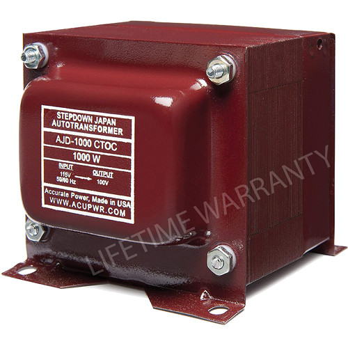 ACUPWR AJD-1000 CTOC Japan to US Step Down Transformer (1000W)