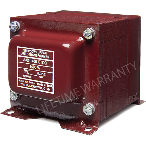 ACUPWR AJD-1400 CTOC Japan to US Step Down Transformer (1400W)