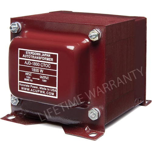ACUPWR AJD-1800 CTOC Japan to US Step Down Transformer (1800W)