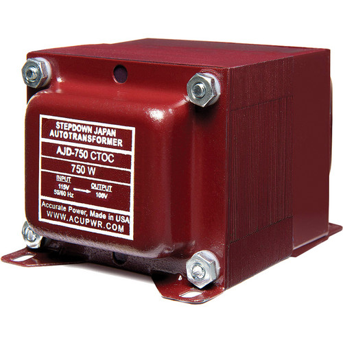 ACUPWR AJD-750 CTOC Japan to US Step Down Transformer (750W)