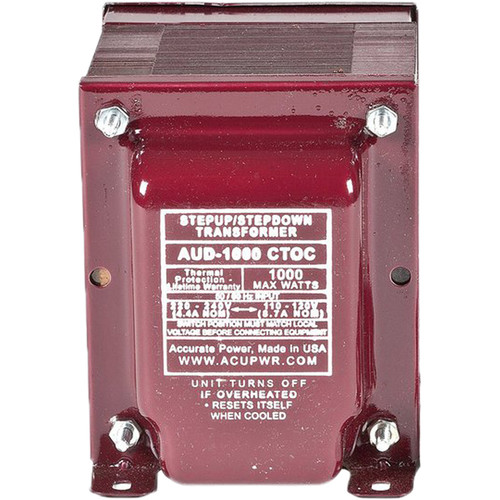 ACUPWR AUD-1000 IEC Type D 1000W Step-Up and Step-Down Transformer with IEC Type-D