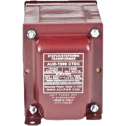 ACUPWR AUD-1500IEC Type-J 1500W Step-Up and Step-Down Voltage Transformer with IEC Type-J