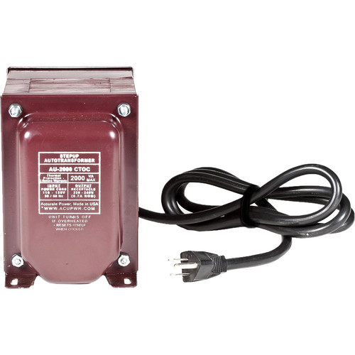 ACUPWR AUD-2000 IEC 2000W Step-Up and Step-Down Voltage Transformer with IEC Type-D