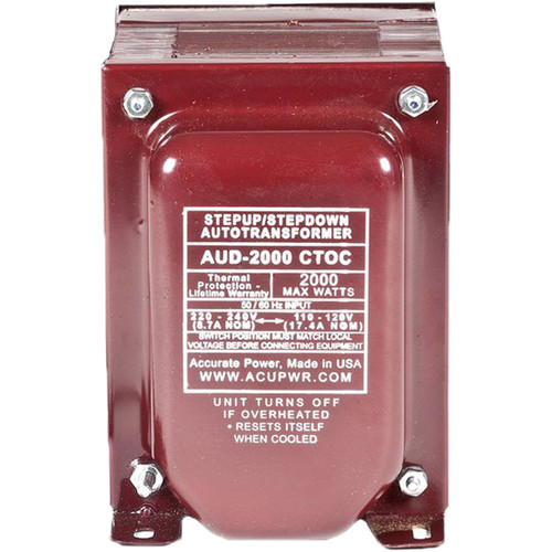 ACUPWR AUD-2000IEC Type-J 2000W Step Up and Step Down Transformer with IEC Type-J