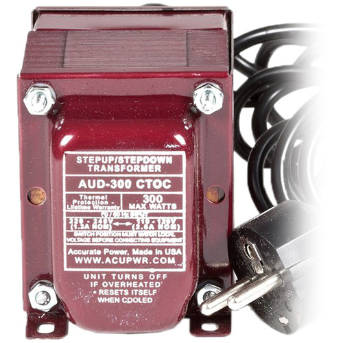 ACUPWR AUD300 300W Step-Up and Step-Down Transformer with Type-F IEC