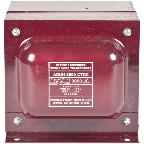 ACUPWR AUDH-3000 Step Up/Step Down Home Transformer/Voltage Converter (3000W)