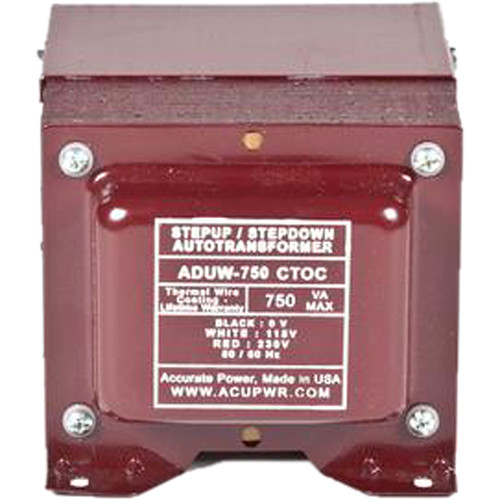 ACUPWR 750W Step-Up/Step-Down Knock-Out Box Voltage Transformer for 110-120 or 220-240V