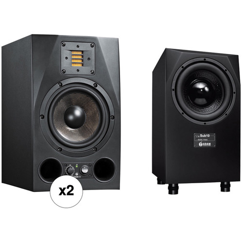 Adam Professional Audio A7X-SUB10 MK2 Bundle with Nearfield Monitoring & Subwoofer