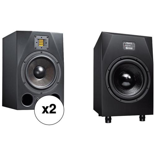 Adam Professional Audio A8X-SUB12 Nearfield Monitors & Subwoofer Bundle