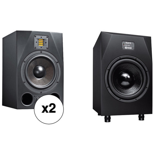 adam professional audio a8x sub12 nearfield bundle a8x sub12 b h. Black Bedroom Furniture Sets. Home Design Ideas