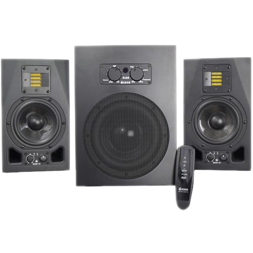 Adam Professional Audio A5X Nearfield Monitors (Pair) and Sub8 Subwoofer Speaker Bundle