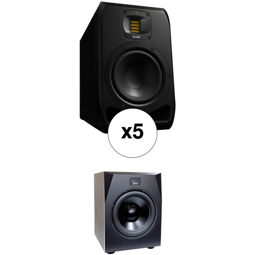 Adam Professional Audio The Bronx - 5.1 Bundle with S2V Monitors and Sub15 Subwoofer (Pair)