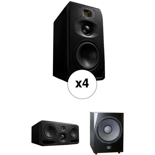 Adam Professional Audio Queens - 5.1 Bundle with S3 Series Midfield Monitors & Sub2100 Subwoofer