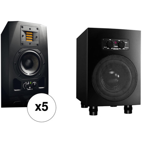 Adam Professional Audio Fogg - 5.1 Bundle with A3X Nearfield Monitors & Sub8 Subwoofer
