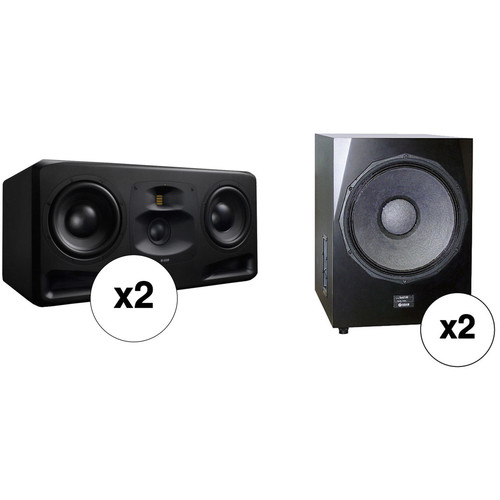 """Adam Professional Audio The Frankfurt Matched 2.2 Speaker System with 2x10"""" 3-Way Monitors and 21"""" Subwoofers"""
