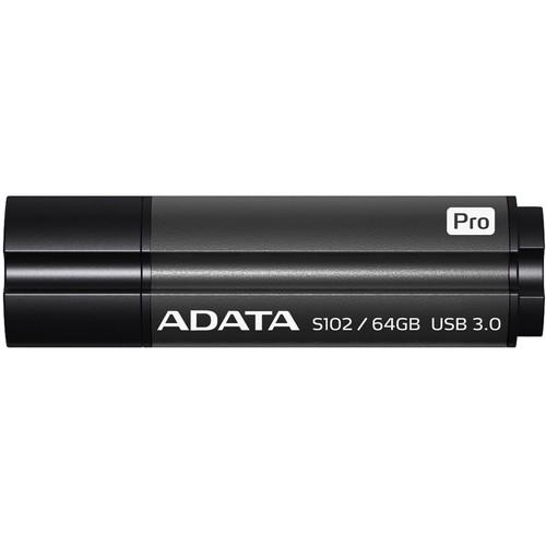 ADATA Technology 64GB S102 Pro Advanced USB 3.0 Flash Drive (Gray)