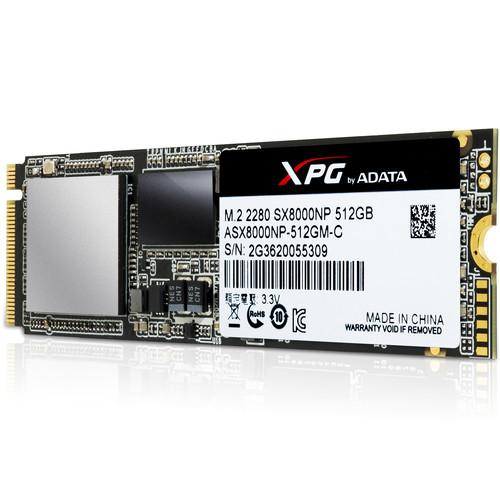 ADATA Technology 512GB XPG SX8000 PCIe Gen3x4 M.2 2280 SSD