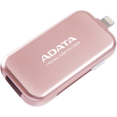 ADATA Technology UE710 i-Memory Flash Drive for Select iPhone, iPad, and iPod Devices (32GB, Rose Gold)