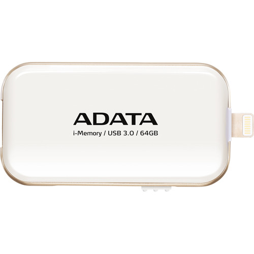 ADATA Technology UE710 i-Memory Flash Drive for Select iPhone, iPad, and iPod Devices (64GB, White)