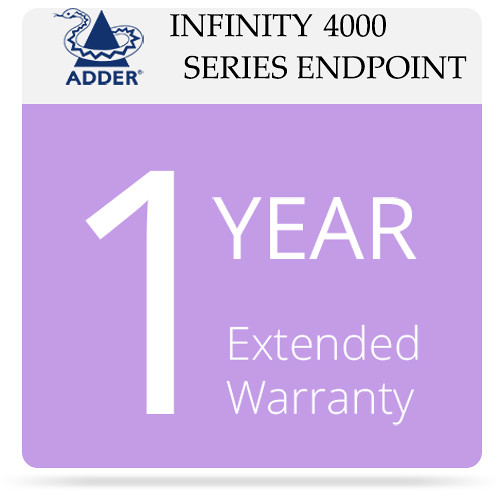 Adder 1-Year Extended Warranty for Infinity 4000 Series Endpoint