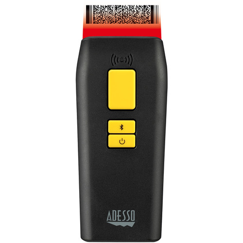 Adesso Portable Pocket Size Bluetooth 2D and 1D Long Range Barcode Scanner with Detachable Magnetic Cable