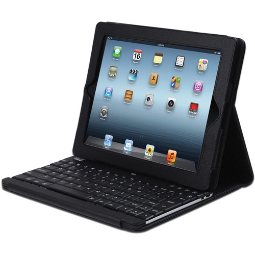 Adesso Compagno 3 Bluetooth Scissor-Switch Keyboard with Carrying Case for iPad (Black)