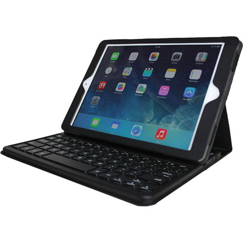 Adesso WKB-1020DB Compagno Air Bluetooth 3.0 Scissor-Switch Keyboard & Folio Case for iPad Air (Black)