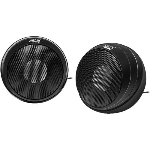Adesso Xtream S4 USB-Powered Stereo Multimedia Desktop Speakers (Black, Pair)